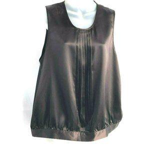 BCBG Maxazria Women's Sleeveless Pleated Top XL Br